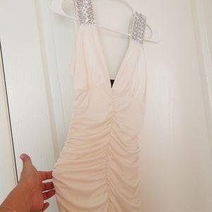 Dresses & Skirts - White Beaded Dress
